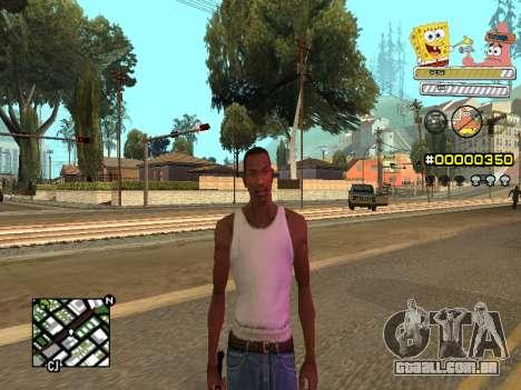 C-HUD Sponge Bob para GTA San Andreas sexta tela
