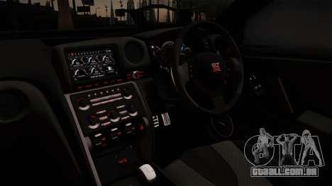 Nissan GTR-R35 para GTA San Andreas traseira esquerda vista