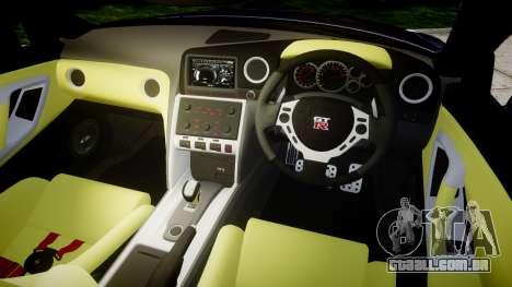 Nissan GT-R R35 2012 Sharpie para GTA 4 vista interior