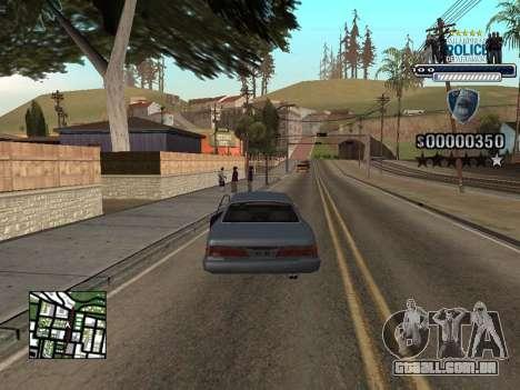 Police HUD para GTA San Andreas terceira tela