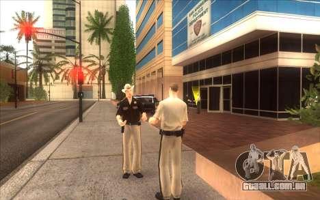 O renascimento da LVPD para GTA San Andreas segunda tela