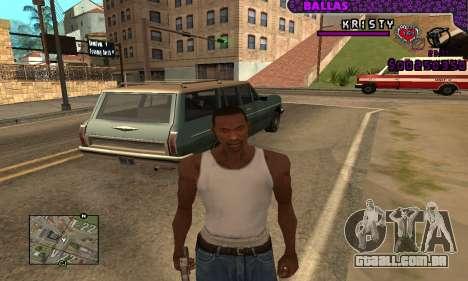 Ballas C-HUD para GTA San Andreas terceira tela