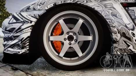Nissan GT-R R35 2012 Sharpie para GTA 4 vista de volta