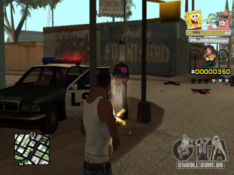 C-HUD Sponge Bob para GTA San Andreas por diante tela