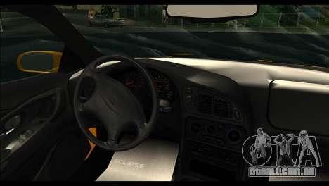 Mitsubishi Eclipce 1999 para GTA San Andreas traseira esquerda vista