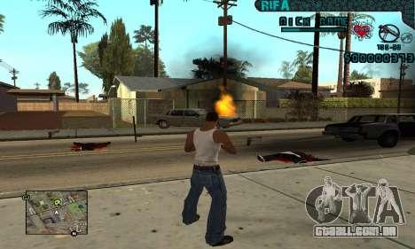 C-HUD Rifa Gang para GTA San Andreas
