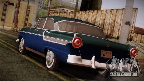 Smith Custom 200 from Mafia Il para GTA San Andreas esquerda vista