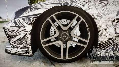 Mersedes-Benz SL65 AMG 2009 Sharpie para GTA 4 vista de volta