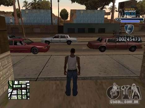Police HUD para GTA San Andreas