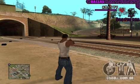 Ballas C-HUD para GTA San Andreas por diante tela
