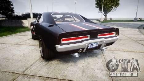 Dodge Charger RT 1970 Shark para GTA 4 traseira esquerda vista