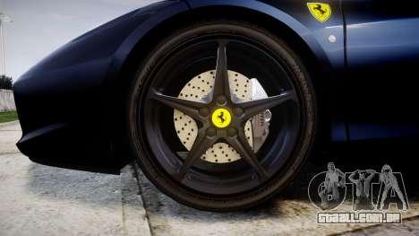 Ferrari 458 Italia 2010 v3.0 Slipknot para GTA 4 vista de volta