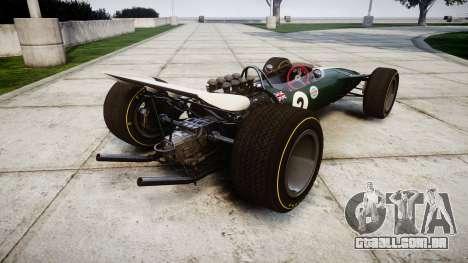 Lotus Type 49 1967 [RIV] PJ1-2 para GTA 4 traseira esquerda vista