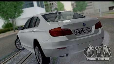 BMW 535i F10 para GTA San Andreas esquerda vista