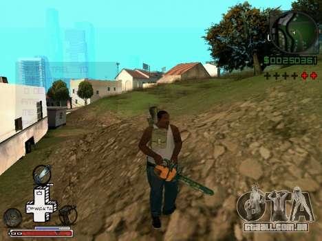 C-HUD Optiwka para GTA San Andreas quinto tela