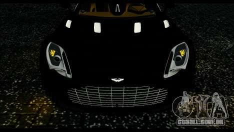 Aston Martin One-77 Beige Black para GTA San Andreas traseira esquerda vista