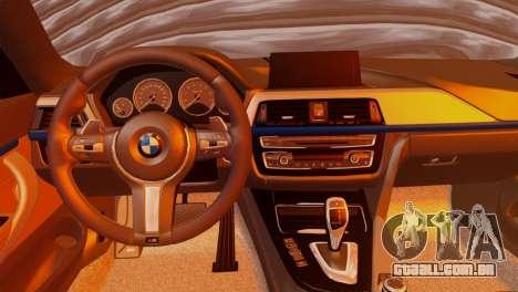 BMW 435i para GTA San Andreas traseira esquerda vista