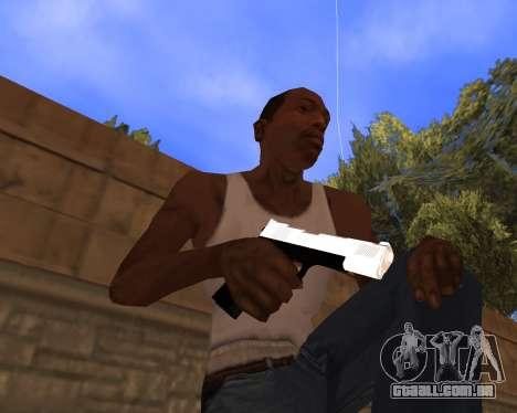 White Chrome Gun Pack para GTA San Andreas por diante tela