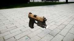 Pistola HK USP 45 empoeirado