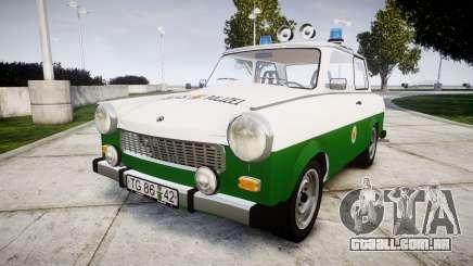 Trabant 601 deluxe 1981 Police para GTA 4