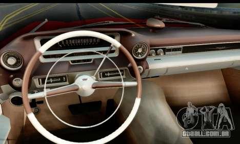 Cadillac Eldorado Biarritz Convertible 1959 para GTA San Andreas traseira esquerda vista