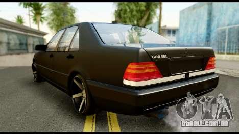 Mercedes-Benz 600SEL para GTA San Andreas esquerda vista
