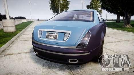 Enus Cognoscenti VIP para GTA 4 traseira esquerda vista