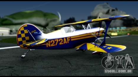 Alabeo PITTS S2S Blue para GTA San Andreas esquerda vista