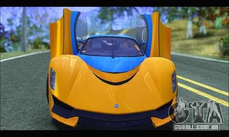 Grotti Turismo R v2 (GTA V) (IVF) para GTA San Andreas vista traseira