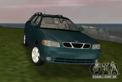 Daewoo Nubira I Wagon CDX US 1999 para GTA Vice City vista interior