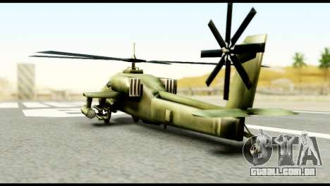 Beta Hunter para GTA San Andreas esquerda vista