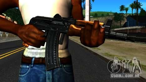 Brilhante AKS-74U v2 para GTA San Andreas terceira tela