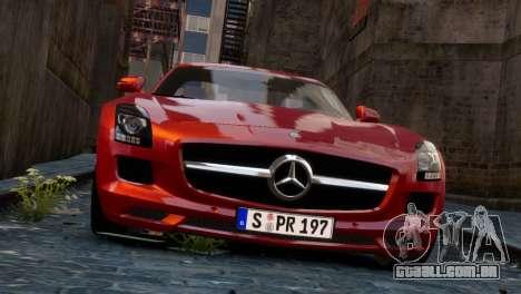 Mercedes-Benz SLS AMG 2011 [EPM] para GTA 4 vista de volta