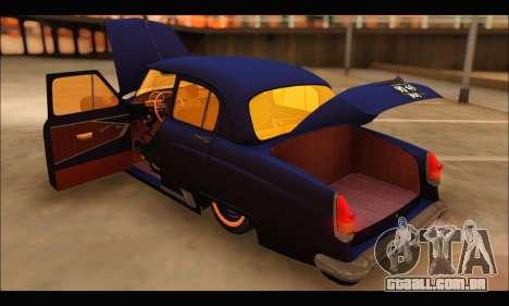 GAZ 21 Volga Resto para GTA San Andreas vista traseira