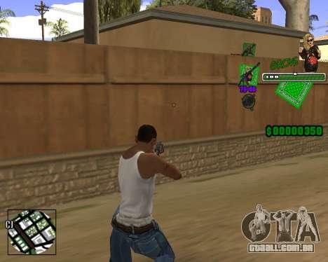 C-HUD Grove St. para GTA San Andreas segunda tela