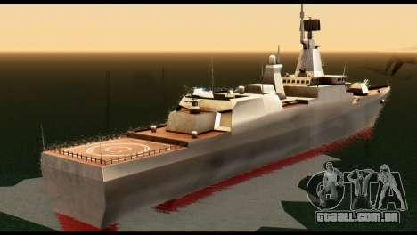 Admiral Sergey Gorshkov para GTA San Andreas traseira esquerda vista