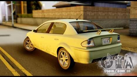 DeClasse Premier from GTA 5 para GTA San Andreas esquerda vista