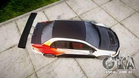 Mitsubishi Lancer Evolution IX HQ para GTA 4 vista direita