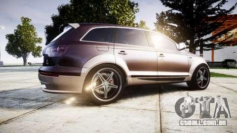 Audi Q7 2009 ABT Sportsline [Update] rims2 para GTA 4 esquerda vista