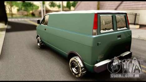 GTA 5 Burrito para GTA San Andreas esquerda vista