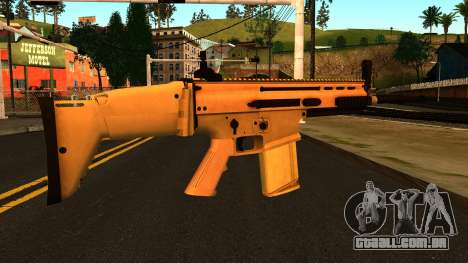 FN SCAR-H from Medal of Honor: Warfighter para GTA San Andreas segunda tela