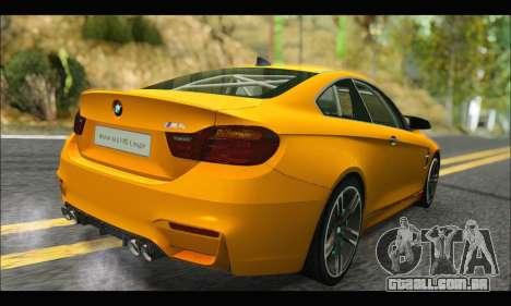 BMW M4 F80 Coupe 1.0 2014 para GTA San Andreas vista traseira