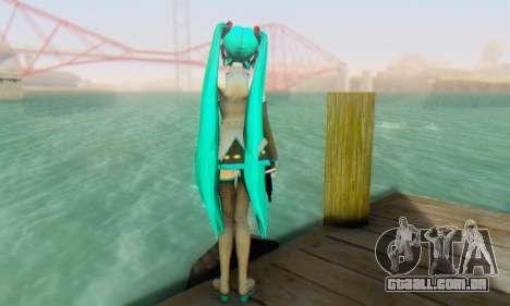Hatsune Miku Dreamy Theater para GTA San Andreas quinto tela