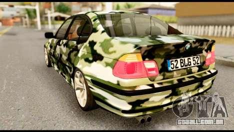 BMW M3 E46 TSK para GTA San Andreas esquerda vista
