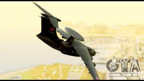 Beriev A-50 Russian Air Force para GTA San Andreas esquerda vista