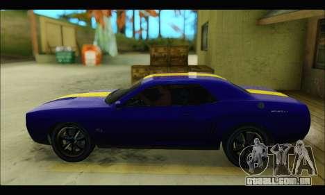 Bravado Gauntlet (GTA V) para GTA San Andreas traseira esquerda vista