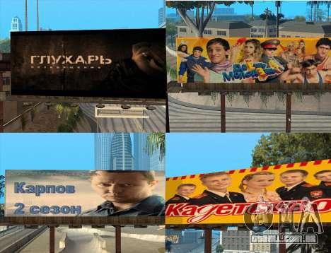 Substituição de publicidade (banners) para GTA San Andreas terceira tela