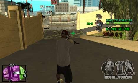 C-HUD Ghetto 4ever para GTA San Andreas por diante tela