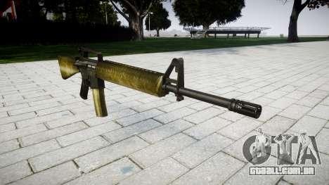 O M16A2 rifle de oliveira para GTA 4