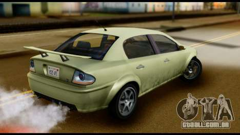 DeClasse Premier from GTA 5 para GTA San Andreas traseira esquerda vista